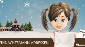 Liste aller Weihnachtsmann-Adressen