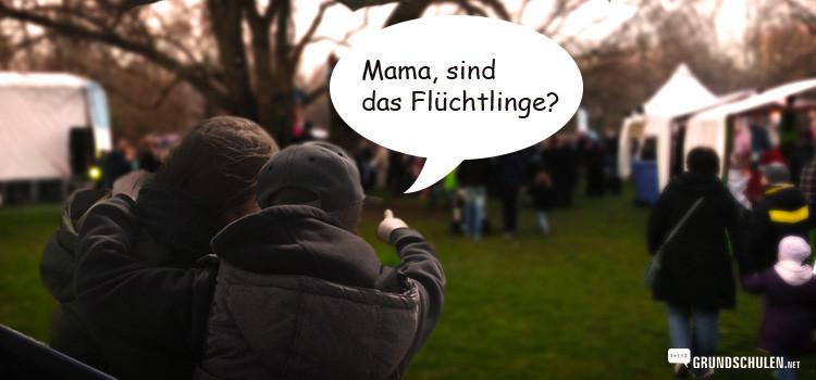 Flüchtlinge Kindern erklären