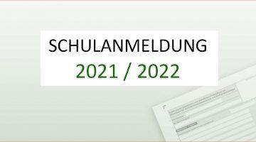 Schulanmeldung 2021 2022