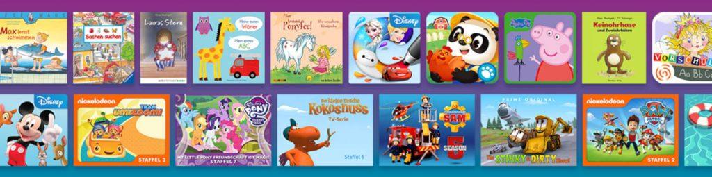 Das breitgefächerte Angebot von Amazon Kids Plus